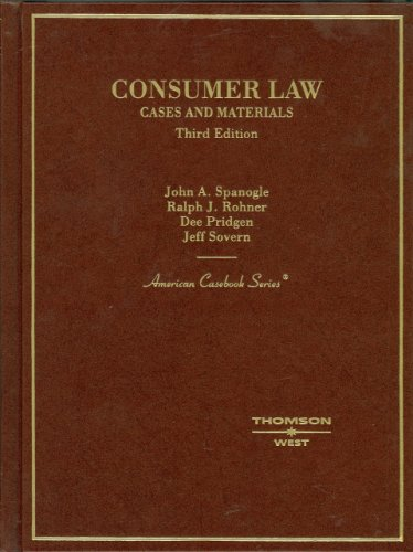 Consumer Law Cases and Materials 3rd 2007 (Revised) edition cover