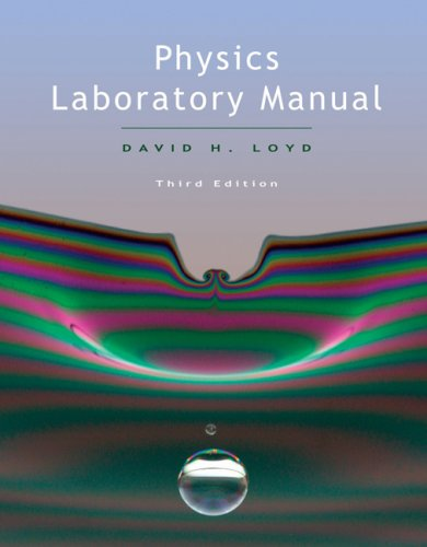 Physics Lab Manual  3rd 2008 (Revised) edition cover