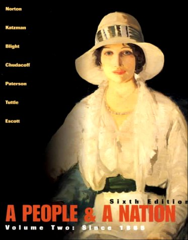 People and a Nation : A History of the United States 6th 2001 9780618005529 Front Cover