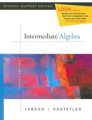 Intermdiate Algebra  4th 2008 9780618753529 Front Cover