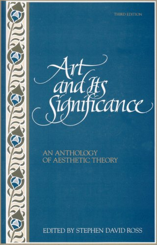 Art and Its Significance An Anthology of Aesthetic Theory 3rd 1994 (Revised) edition cover