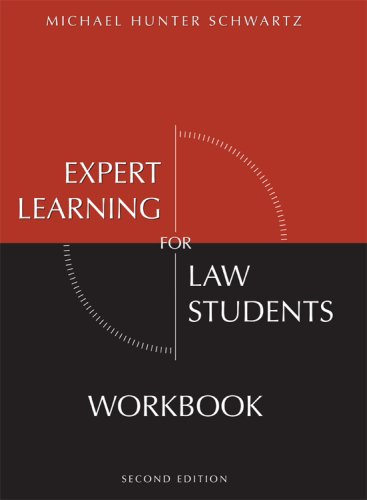 Expert Learning for Law Students Workbook  2nd 2008 edition cover