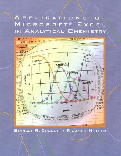 Applications of Microsoft Excel in Analytical Chemistry  8th 2004 9780030355530 Front Cover