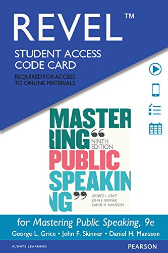 Mastering Public Speaking Revel Access Card:   2015 edition cover