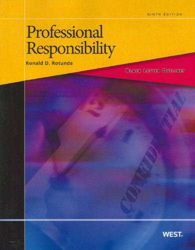 Professional Responsibility  9th 2011 (Revised) 9780314275530 Front Cover
