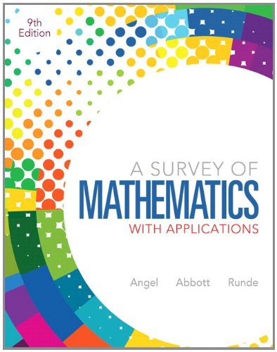 Survey of Mathematics with Applications  9th 2013 edition cover