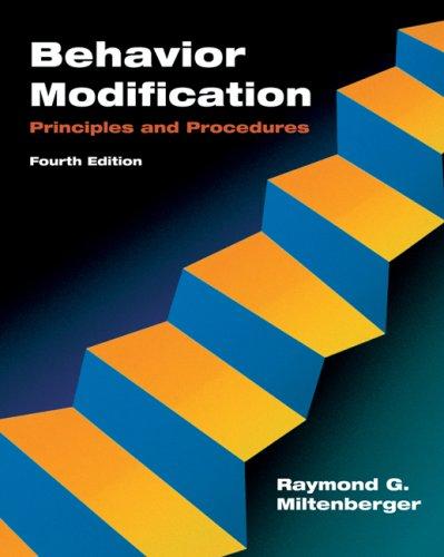 Behavior Modification Principles and Procedures 4th 2008 edition cover