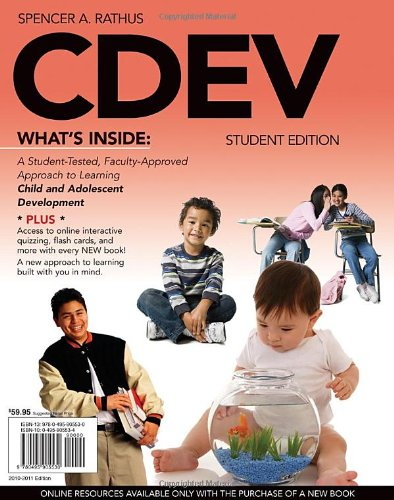 CDEV   2011 (Student Manual, Study Guide, etc.) 9780495905530 Front Cover