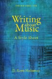 Writing about Music A Style Sheet 3rd 2014 edition cover
