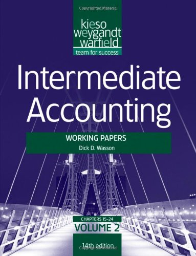 Intermediate Accounting  14th 2012 9781118014530 Front Cover