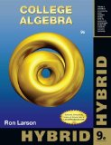 College Algebra, Hybrid Edition (with Enhanced WebAssign with EBook LOE Printed Access Card for One-Term Math and Science)  9th 2014 edition cover