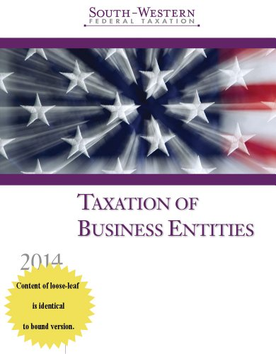 South-western Federal Taxation 2014: Taxation of Business Entities  2013 9781285181530 Front Cover