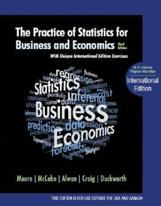 Practice of Statistics for Business and Economics  3rd 2011 9781429242530 Front Cover