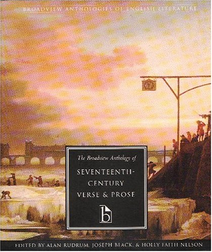 Broadview Anthology of Seventeenth-Century Verse and Prose   2000 edition cover