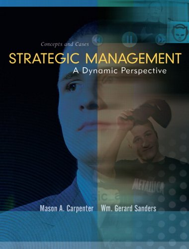 Strategic Management Concepts  2007 9780131453531 Front Cover