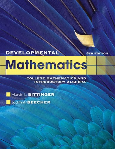 Developmental Mathematics  8th 2012 (Revised) edition cover