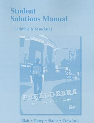 Student Solutions Manual for Prealgebra  5th 2012 (Revised) edition cover