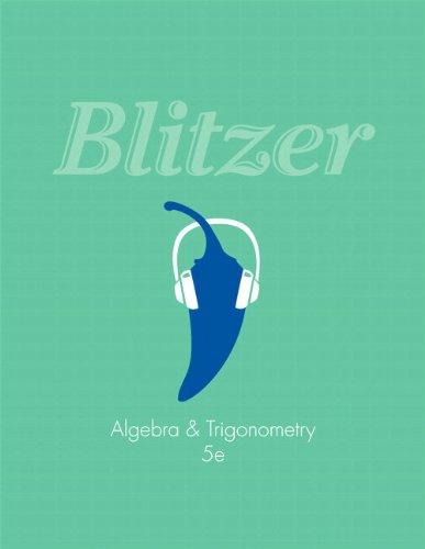 Algebra and Trogonometry  5th 2014 edition cover