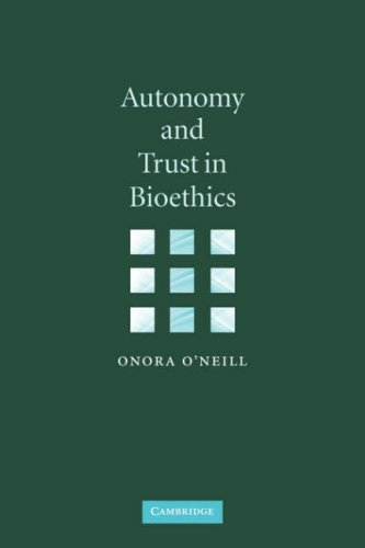 Autonomy and Trust in Bioethics   2002 9780521894531 Front Cover