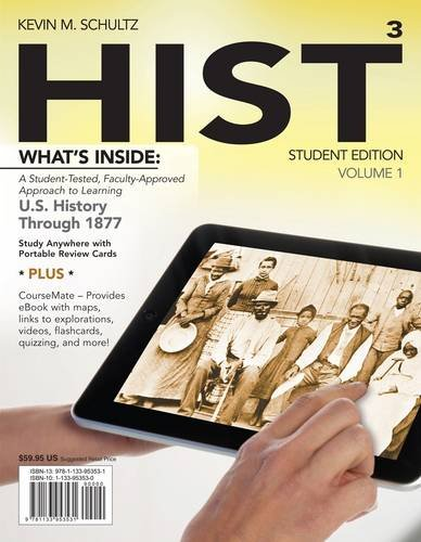 Hist + History Coursemate With Ebook Printed Access Card: Us History Through 1877  2013 edition cover