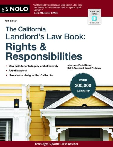 California Landlord's Law Book: Rights and Responsibilities  15th edition cover