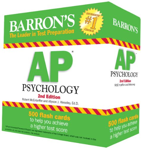 Barron's AP Psychology Flash Cards, 2nd Edition  2nd 2013 (Revised) edition cover