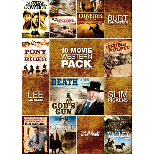 10-Movie Western Pack, Vol. 2 (Nothing Too Good For a Cowboy / Kid Vengeance / Cowboys Don't Cry / Pony Express Rider / Gun and the Pulpit / Death Rides a Horse / God's Gun / Ned's Blessing / Against Sky) System.Collections.Generic.List`1[System.String] artwork