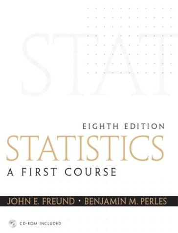 Statistics A First Course 8th 2004 edition cover