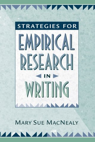 Strategies for Empirical Research in Writing   1999 edition cover