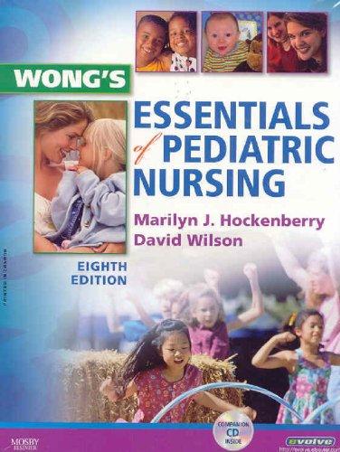 Wong's Essentials of Pediatric Nursing  8th 2009 edition cover