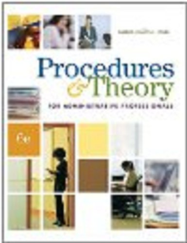 Procedure and Theory for Administrative Professionals  6th 2009 (Workbook) 9780538730532 Front Cover