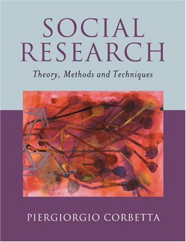 Social Research Theory, Methods and Techniques  2003 9780761972532 Front Cover