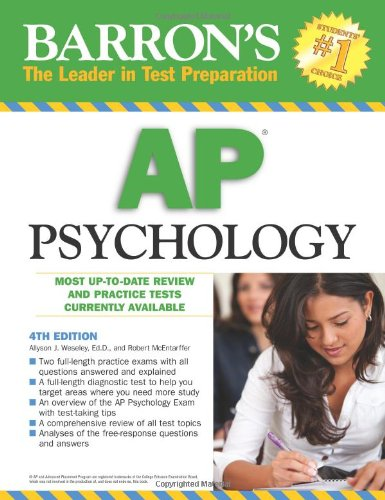 Barron's AP Psychology  4th 2010 (Revised) edition cover