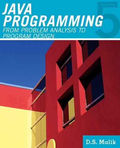 Java Programming From Problem Analysis to Program Design 5th 2012 edition cover