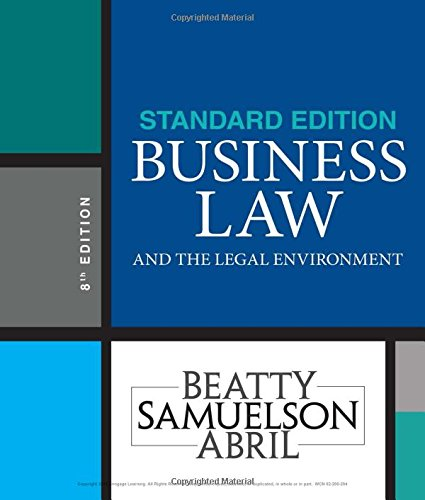 Business Law and the Legal Environment: Standard Edition  2018 9781337404532 Front Cover