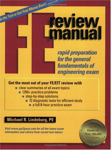 FE Review Manual Rapid Preparation for the General Fundamentals of Engineering Exam  2000 edition cover