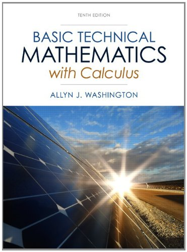 Basic Technical Mathematics with Calculus  10th 2014 edition cover