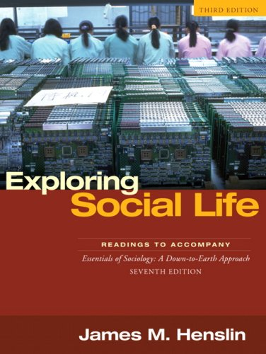 Exploring Social Life Readings to Accompany Essentials of Sociology 3rd 2008 edition cover