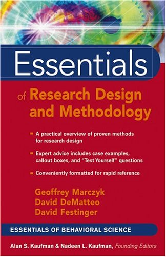 Essentials of Research Design and Methodology   2005 edition cover