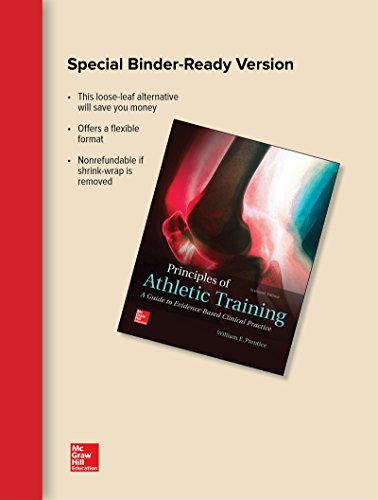 PRINCIPLES OF ATHLETIC TRAINING(LOOSE)  N/A 9781259846533 Front Cover