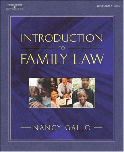 Introduction to Family Law   2004 edition cover
