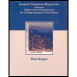 Algebra with Trigonometry  5th 2002 9780030344534 Front Cover