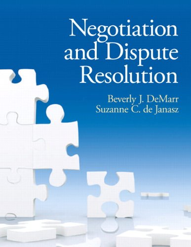 Negotiation and Dispute Resolution   2013 (Revised) edition cover