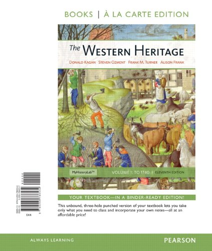 Western Heritage, Volume 1, Books a la Carte Edition  11th 2013 9780205786534 Front Cover