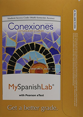 Conexiones / Connections Myspanishlab With Pearson Etext Access Card, 24 Month Access: Comunicaci=n Y Cultura / Communication and Culture  2013 edition cover