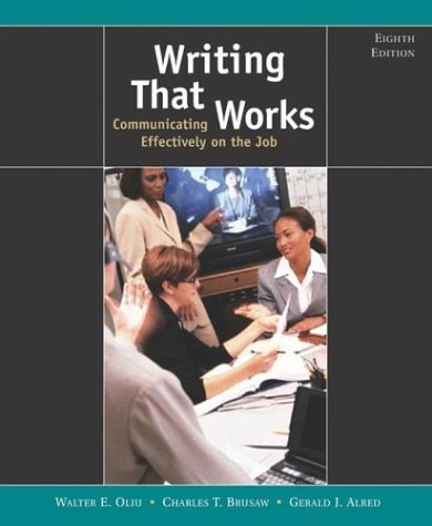 Writing That Works Communicating Effectively on the Job 8th 2004 9780312408534 Front Cover