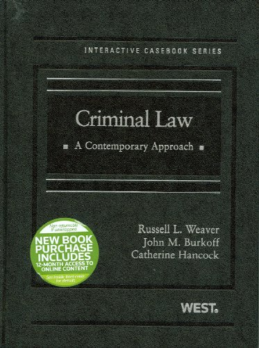 Criminal Law A Contemporary Approach  2011 edition cover