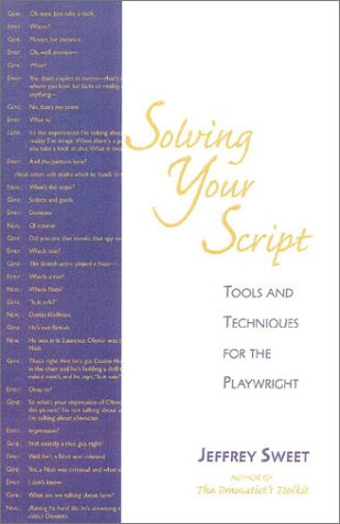 Solving Your Script Tools and Techniques for the Playwright  2001 edition cover