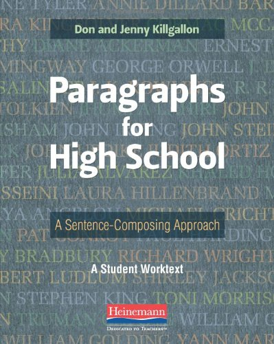 Paragraphs for High School A Sentence-Composing Approach  2013 edition cover