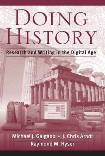 Doing History Research and Writing in the Digital Age  2008 9780534619534 Front Cover